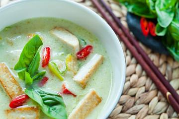 Green Vegan Vegetarian Thai Green Curry
