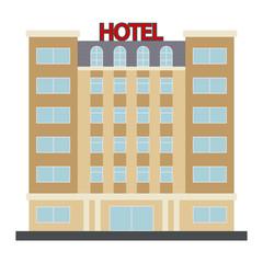 Hotel Vector Icon. Vector illustration.