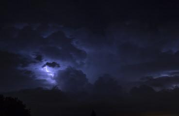 Lightning in the sky of Rome