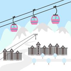Ski resort icon.