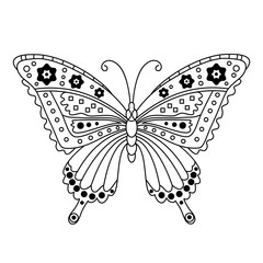 Vector Black and White Butterfly