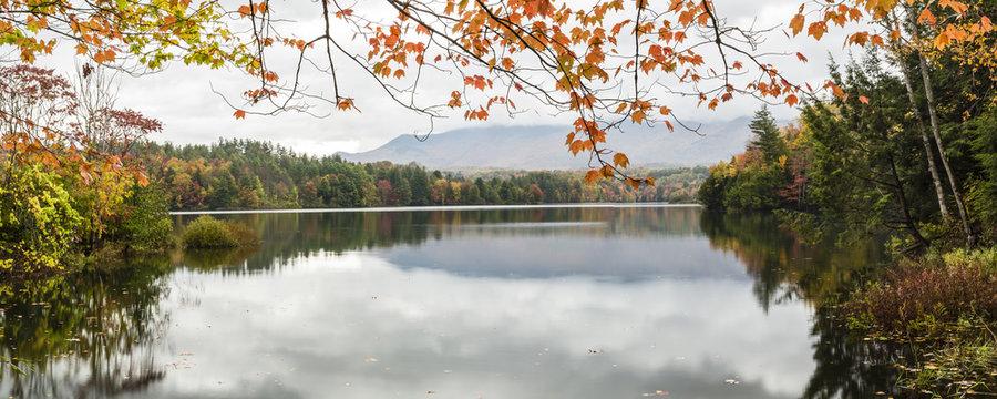 Waterbury Lake Autumn Panorama
