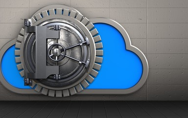 3d cloud steel door