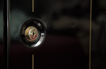 Close up view of a Gun Safe Lock
