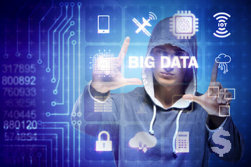 Security of big data concept with hacker