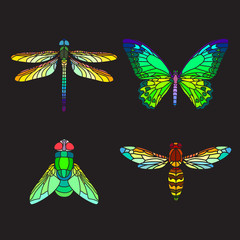 Stained-glass insects