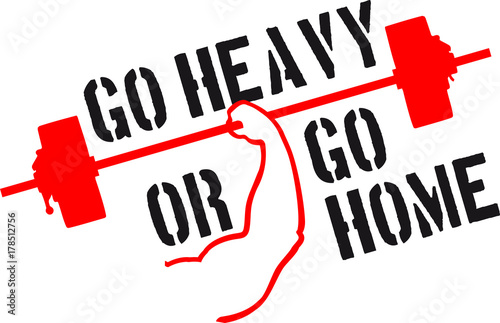 Team Go Heavy Or Go Home Crew Stark Workout Gym Beast Mode