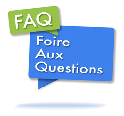 French FAQ initals in colored bubbles