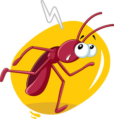 Running Cockroach Insect Vector Cartoon