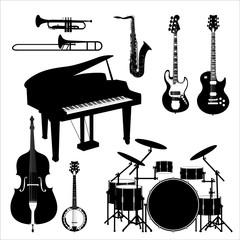 Jazz_band_instruments_set