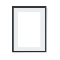 Photo frame on a  background  Vector illustration.
