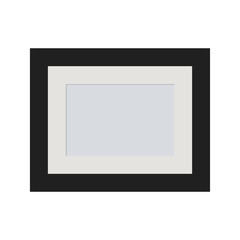 Photo frame on a  background  Vector illustration.