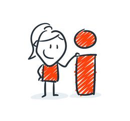 Strichfiguren - Frauchen: Antwort, Idee, Tipp. (4)