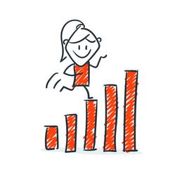 Strichfiguren - Frauchen: Wachstum, Erfolg. (9)