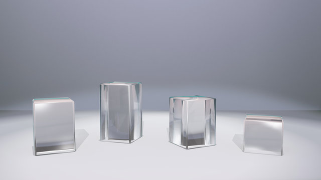window display glass stand