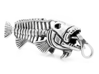 Piece of jewelry - a Pendant on the neck - Skeleton fish Piranha