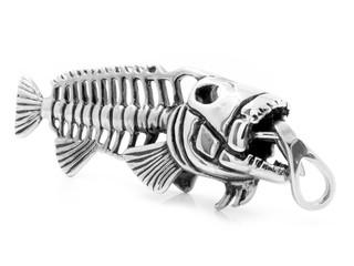 Piece of jewelry - a Pendant on the neck - Skeleton fish Piranha