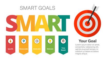 SMART Goals Setting Diagram Template