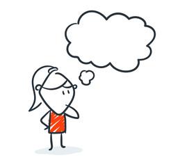 Strichfiguren - Frauchen: Comic, Gedanken, nachdenken. (12)