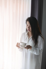 Asia Lady with coffee