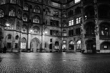 Town hall at night in Munich, Germany