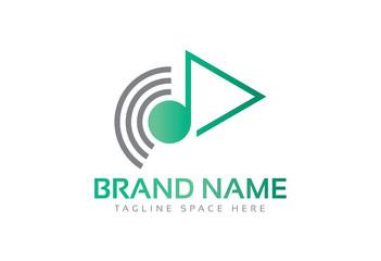 music multimedia signal logo