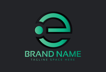 circular colorful logo letter e