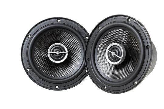 car Acoustic speaker isolated on white background