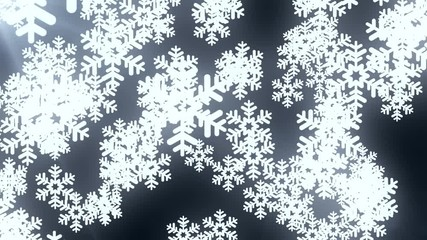 022 falling large snowflake animation background black new quality shape universal motion dynamic animated colorful joyful