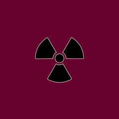 nuclear radiation icon vector