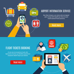 Airport Online Service Flat Banners