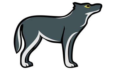design a wolf image