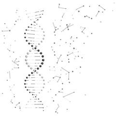 DNA molecules. Vector illustration
