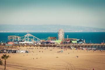 Ferris wheel on Santa Monica pier in California