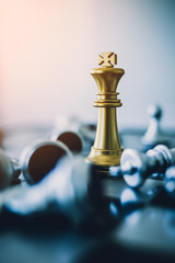 chess board game concept of business ideas and competition and leader strategy plan success meaning