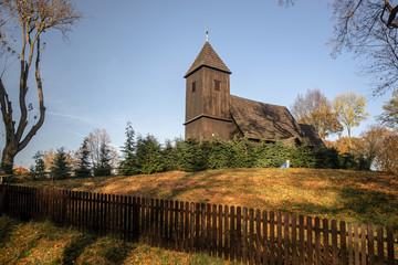 Fototapeta Kościół św. Idziego Opata, Chełstów, gm. Twardogóra, pow. oleśnicki, woj. dolnośląskie obraz
