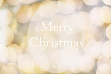 Abstract text message of Happy Holidays against a golden blur bokeh background or banner.