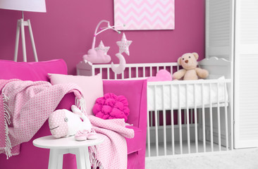Beautiful interior of baby room