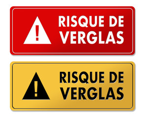 Risk of Ice warning panels in French translation