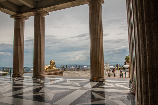 Columns in the Temple of Leah, Cebu Philippines