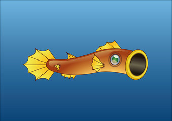 fish shaped kite. Used in some asian celebrations. Vector illustration