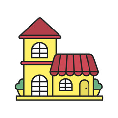 Restaurant color icon