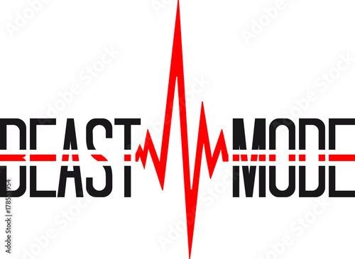 Puls Frequenz Gym Beast Mode Gewicht Heben Herzschlag