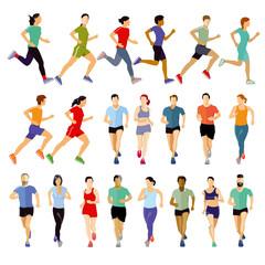Gruppe von Läufern Kollektion