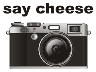 camera, old, technique, apparatus, cartoon, illustration, photograph,hoto appareil, appareil, old school, old photo, words, inscription, say cheese
