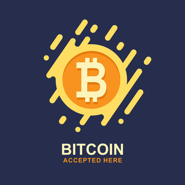 Bitcoin concept. Cryptocurrency logo sigh. Digital money