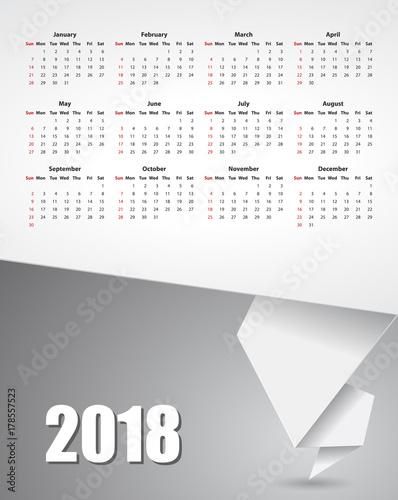 calendar paper banner 2018