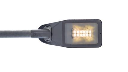 Modern LED street light on white background Fotomurales