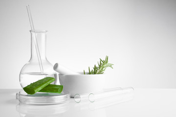 herbal medicine natural organic and scientific glassware