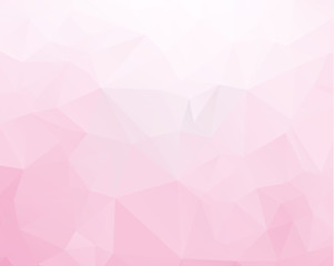 Multicolor purple, pink polygonal illustration, which consist of triangles. Geometric background